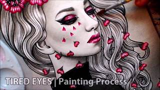 Tired Eyes | watercolor painting | Extended Version