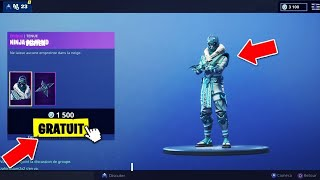 """VOICI THE NEW SKIN """"NINJA OF FROID"""" AND """"INVERTED LAME"""" FREE ON FORTNITE! 😱"""