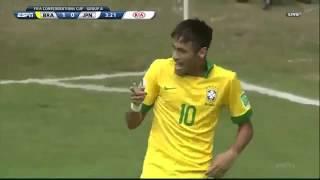 Baixar Neymar, Brazil flex muscle over Japan