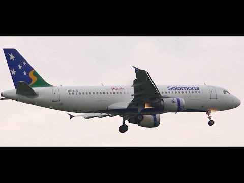 RARE ● Solomon Airlines Airbus A320-200 - Landing at Melbourne Airport (H4-BUS)