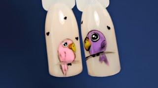 Дизайн ногтей птички | Маникюр гель-лаком | Nancy Wave