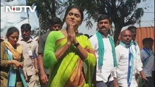 Jagan Reddy's Sister's 4,000 Km Telangana Foot March In Challenge To KCR