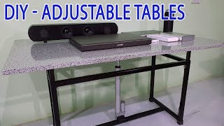 Build a Adjustable Height Tables at home