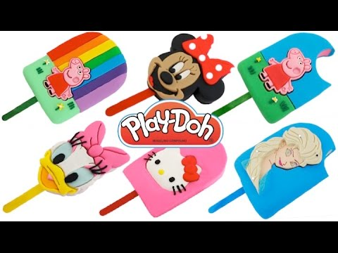 How to Make Play-Doh Ice Cream Popsicles * Play Dough Art * Creative Fun for Kids *  RainbowLearning