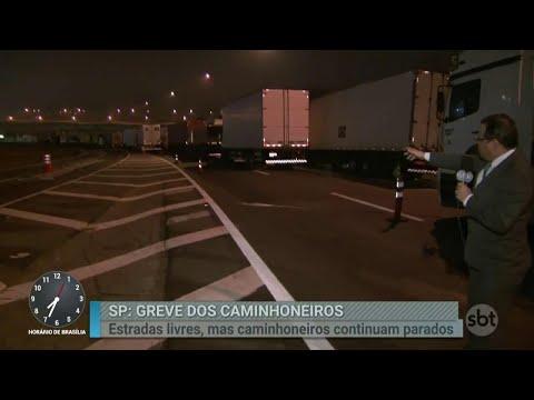 Primeiro Impacto acompanha greve de caminhoneiros na Régis Bittencourt | Primeiro Impacto (28/05/18)