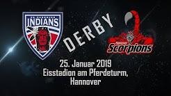 Derby:  EC Hannover Indians vs Scorpions, 25. Jan. 2019 ,  Eishockeyoberliga Nord
