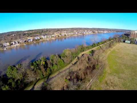 Augusta, Georgia: An aerial view of the Savannah River