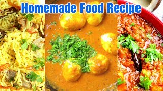Homemade Food Yakhni Pulao Recipe - Adraki Egg Recipe - Kolhapuri Chicken Recipe | Travel Food 2019