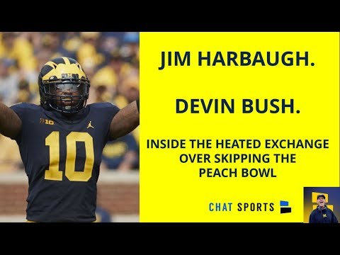 Devin Bush And Jim Harbaugh - Details Of The Heated Exchange Over Skipping The Peach Bowl