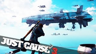 JUST CAUSE 3 SKY FORTRESS! :: Just Cause 3 Funny Epic Moments!
