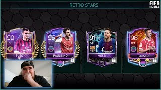 WE PACKED 4 MASTERS! FIFA MOBILE 18 RETRO STARS PACK OPENING