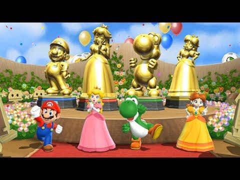 Mario Party 9 Special Step It Up - Everybody Won  Mario, Peach, Yoshi, Daisy  Cartoons Mee