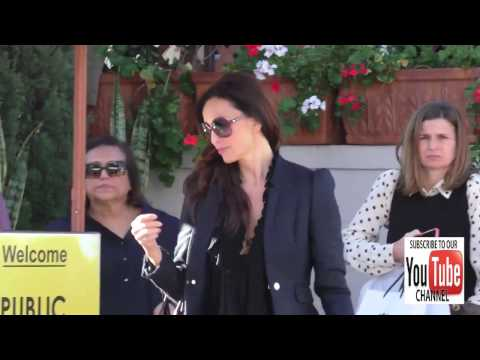 Sofia Milos having lunch in Beverly Hills