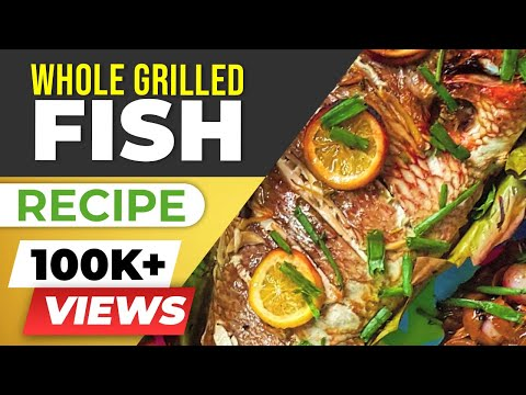 Whole grilled fish (CHINESE style) - HEALTHY recipe