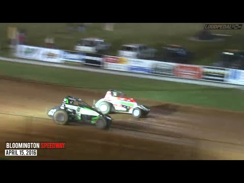 Highlights: USAC AMSOIL National Sprint Cars at Bloomington Speedway - April 15, 2016