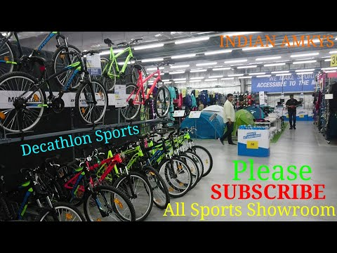 Bicycle Cheapest Price All Sport Items in Decathlon Sports Showroom Jaipur Rajsthan in [Hindi] AMKYS