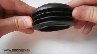 Заглушка круглая для трубы с наружным диаметром 76(http://www.endcaps.ru интернет-магазин пластиковых заглушек., 2013-08-23T17:15:09.000Z)
