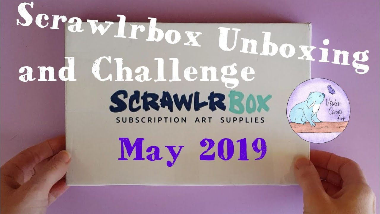 Scrawlrbox Unboxing And Challenge May 2019 Paper Tiger Drawing On A Photo Frame