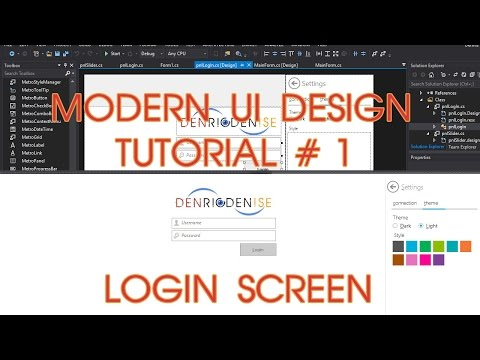 Modern UI Project Tutorial No. 1 - Login Screen