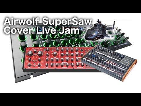 Airwolf Cover | SuperSaw Live Jam | Behringer Neutron | Roland System 1m | Arturia Minibrute 2S