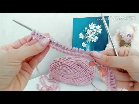 Видео урок вязания снуда спицами