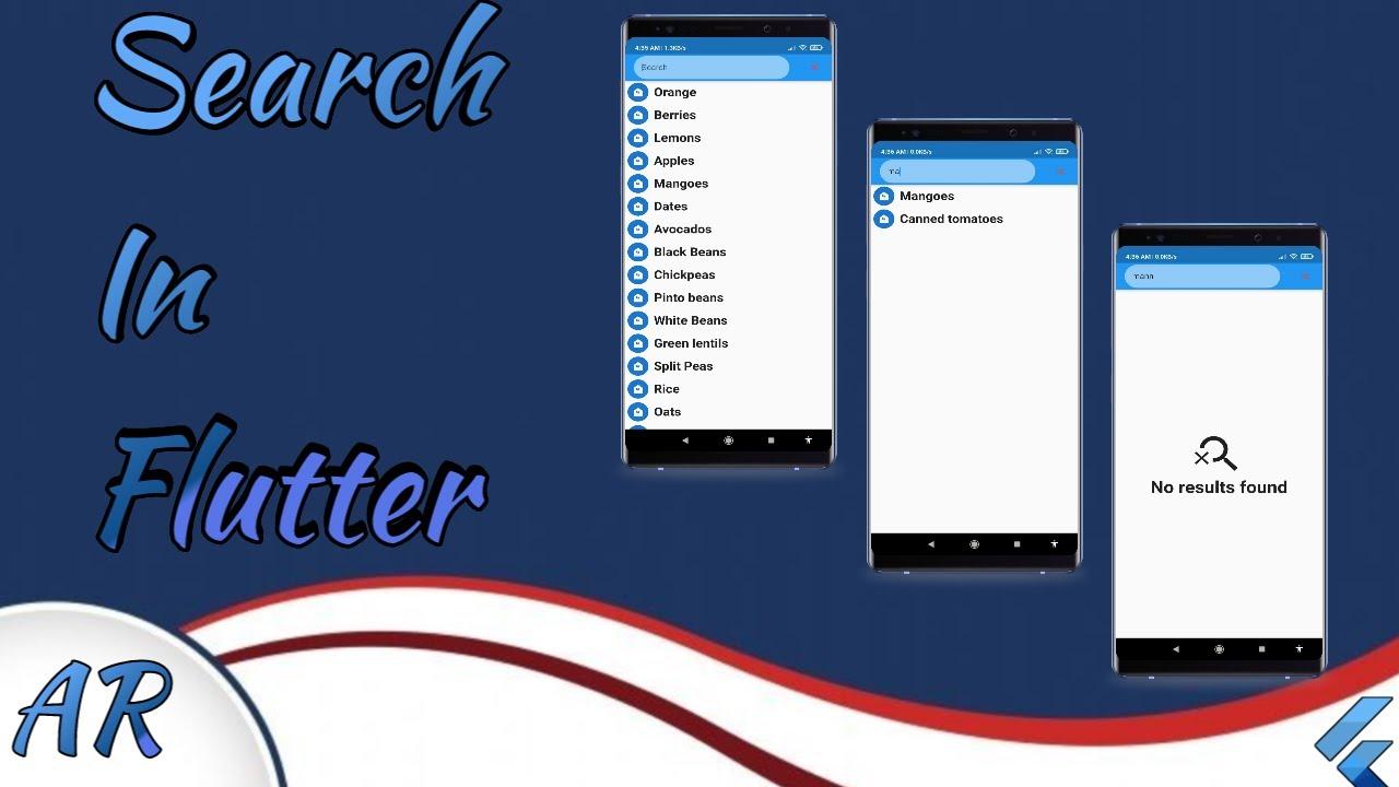 Flutter 2.0 Flutter search (Arabic)