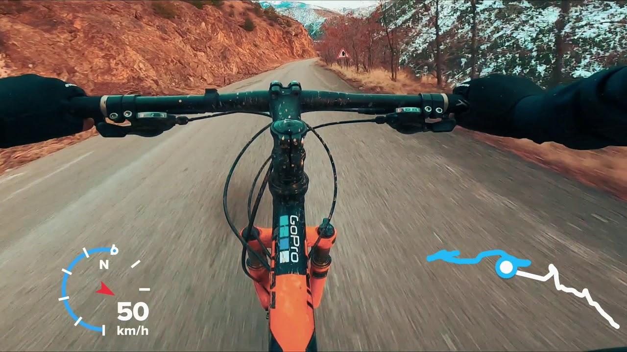 Dağ Bisikleti, hızlı iniş oldu ! ! !  Downhill Soğuksu