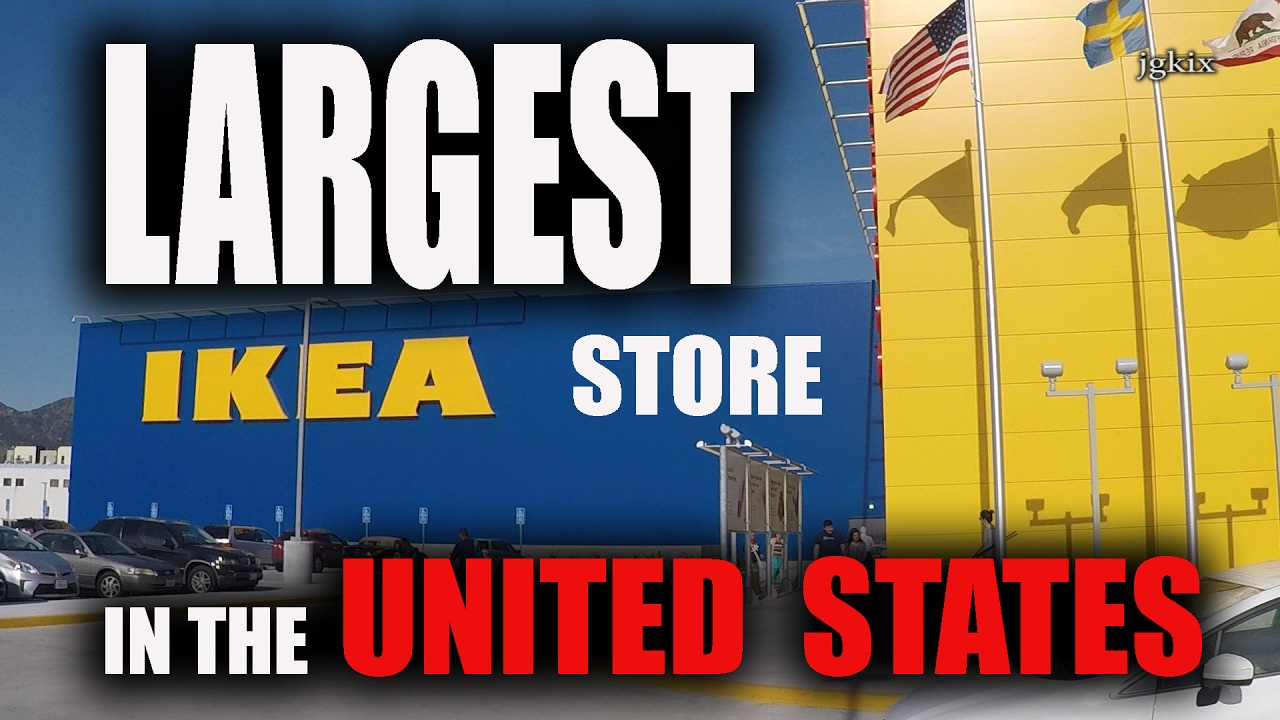 Largest ikea store in usa burbank ca youtube for Ikea in america