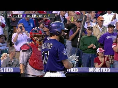 Helton receives standing ovation from crowd