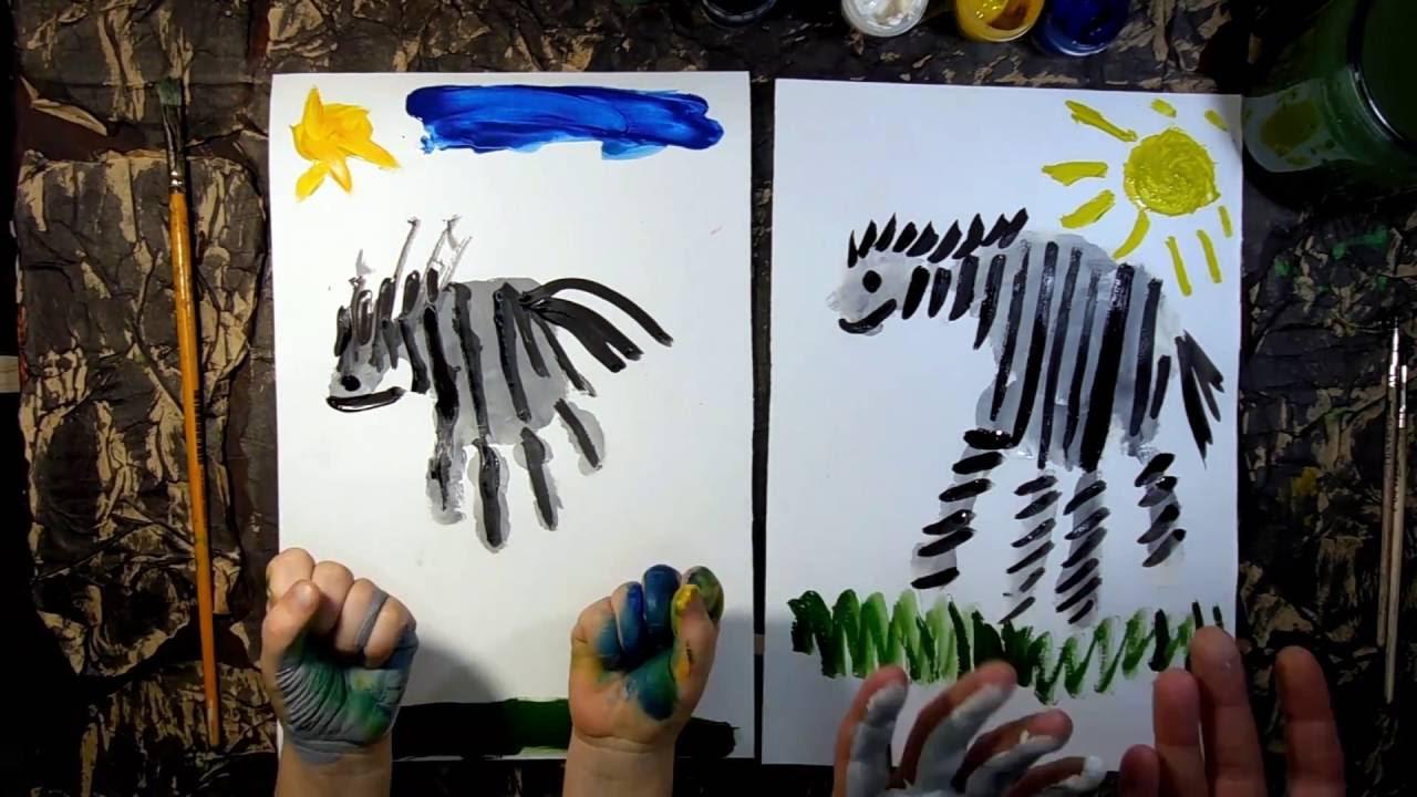 How To Draw A Zebra Handprint