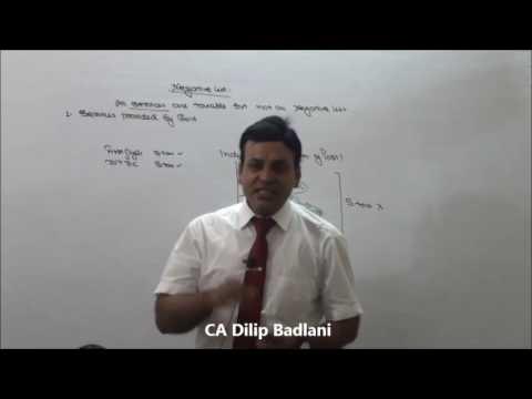 Service Tax : Indirect Tax : AY 17-18 : Negative List