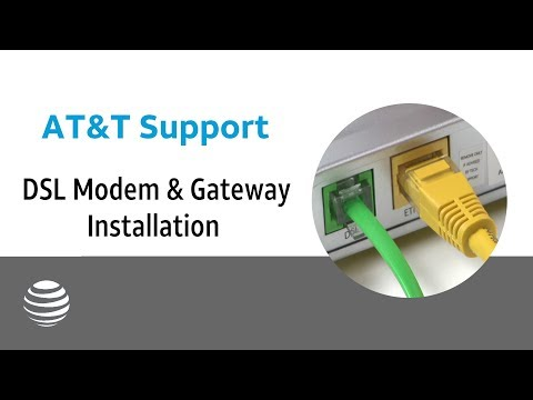 At T Dsl Modem Gateway Installation At T Youtube