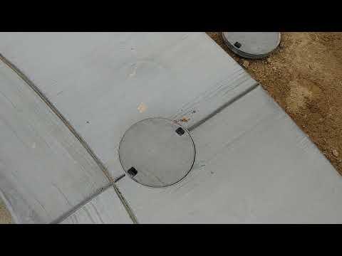 Broom Finish Concrete, Silver Smoke Color, CECIL GUNITE