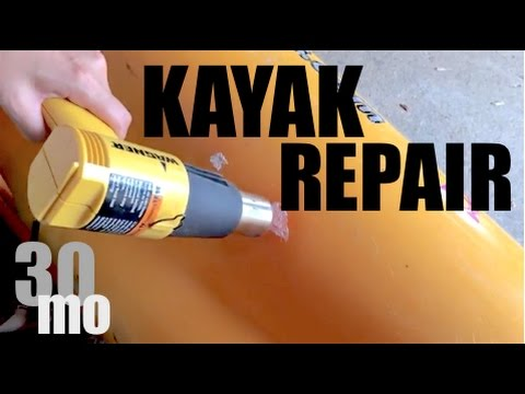 DIY - Repair Hole in Kayak with a BUCKET !