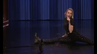 Miley Cyrus Lip Sync Battle on The Tonight Show Starring Jimmy Fallon - She does the Splits twice!