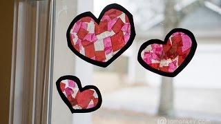 Tissue Paper Stained Glass Hearts - Dixie Crystals