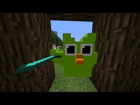 Minecraft But The Duolingo Bird Hunts You Down