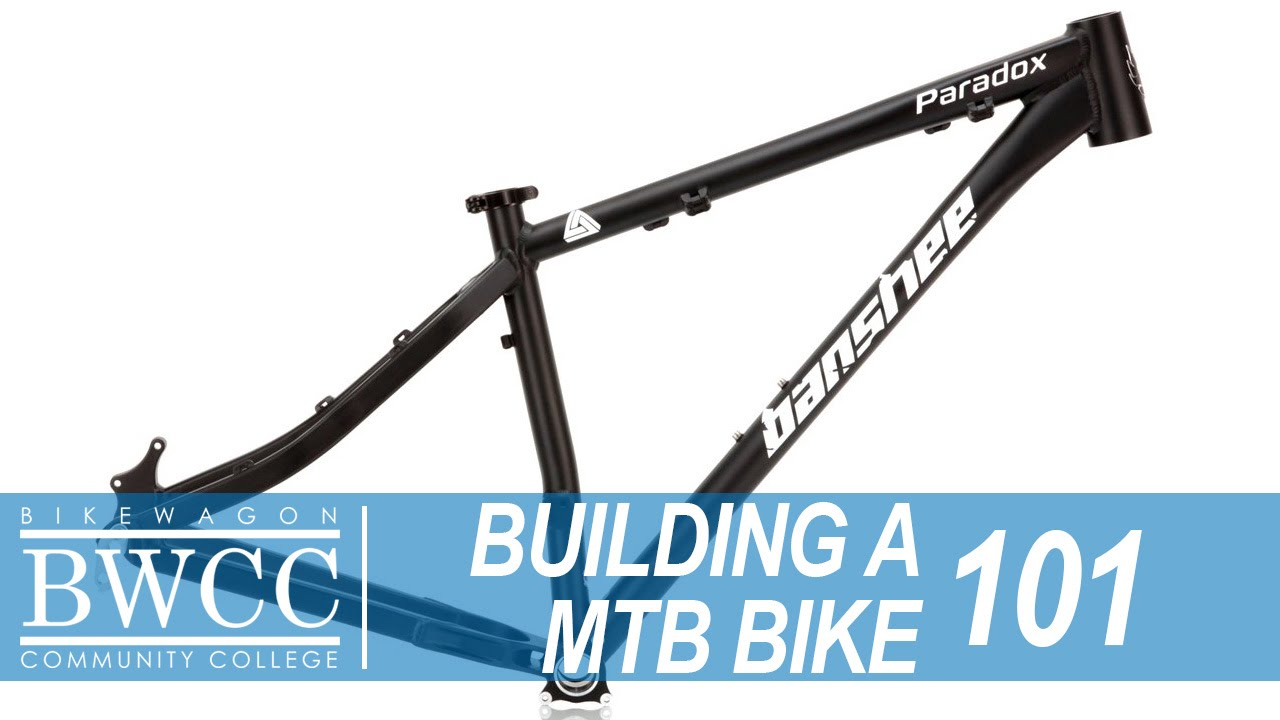 Starting the process of building a mountain bike from Frame up ...