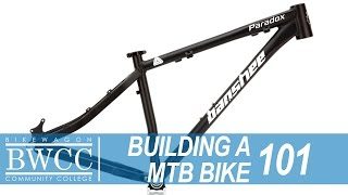 Starting the process of building a mountain bike from Frame up.
