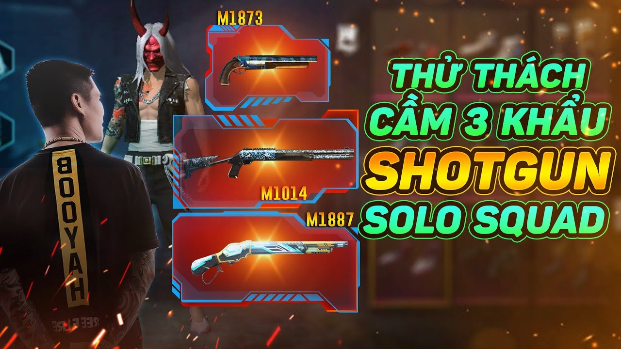Bác Gấu   Thử Thách Cầm 3 Shotgun Đi Solo Squad 1 Cân 4 , Toàn Tây có Bắn Giải ?