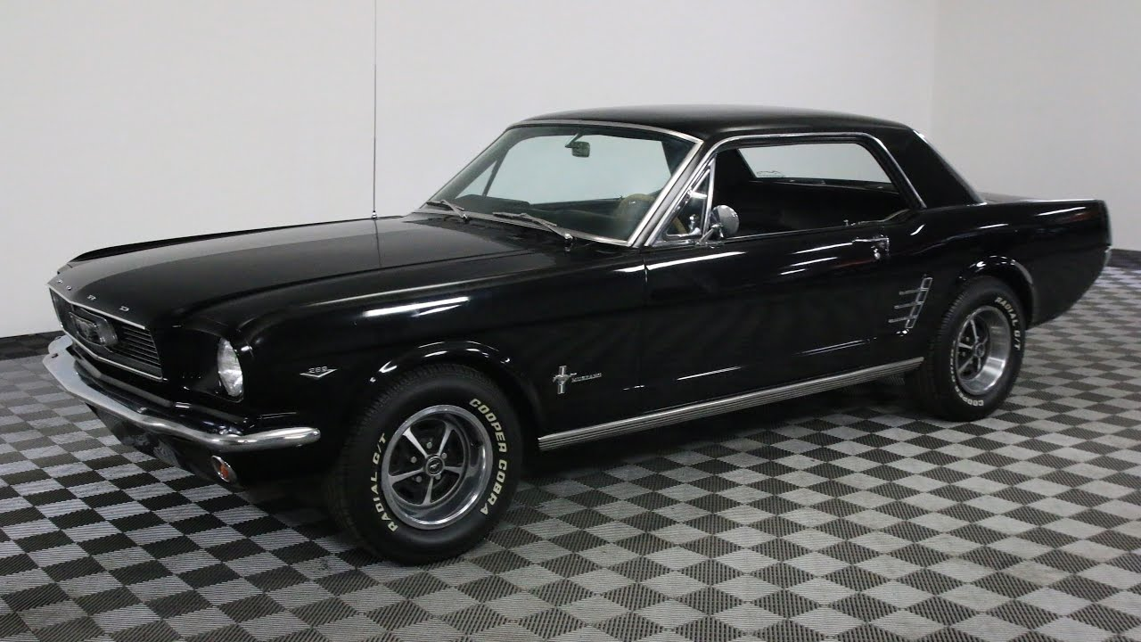 1966 ford mustang black youtube. Black Bedroom Furniture Sets. Home Design Ideas