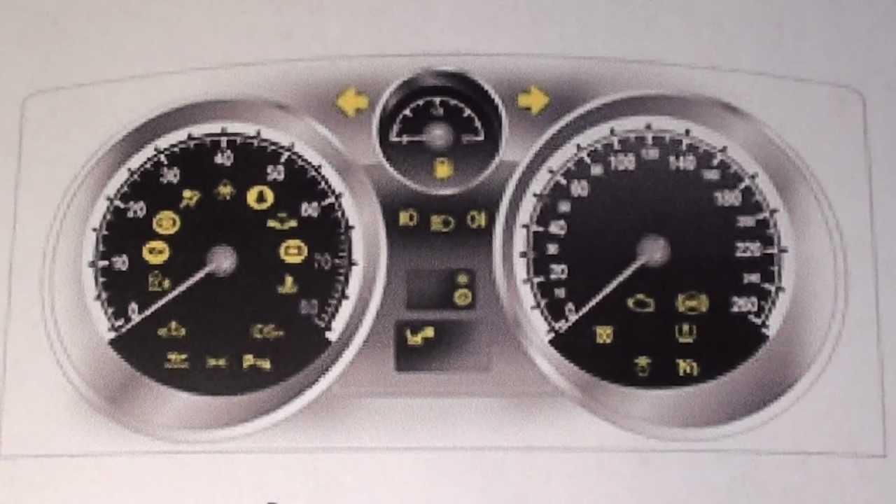 Vauxhall Astra H Mk5 Dash Warning Lights Symbols Youtube
