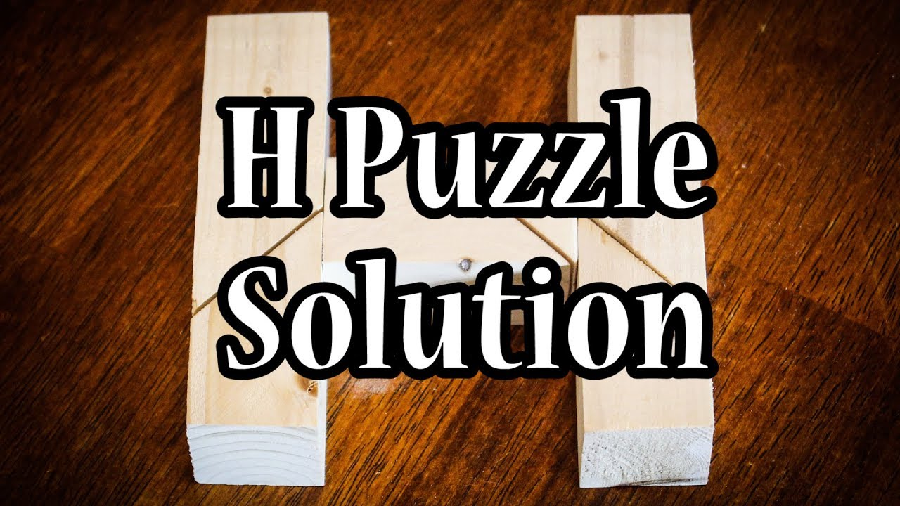 H Puzzle Solution Youtube