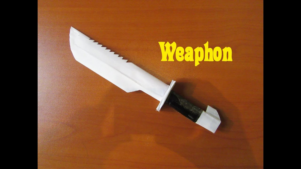 How To Make A Paper Macheteweapon Easy Tutorials Youtube