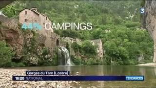 Chastanier - camping du pont de Braye dans le journal France 3 !