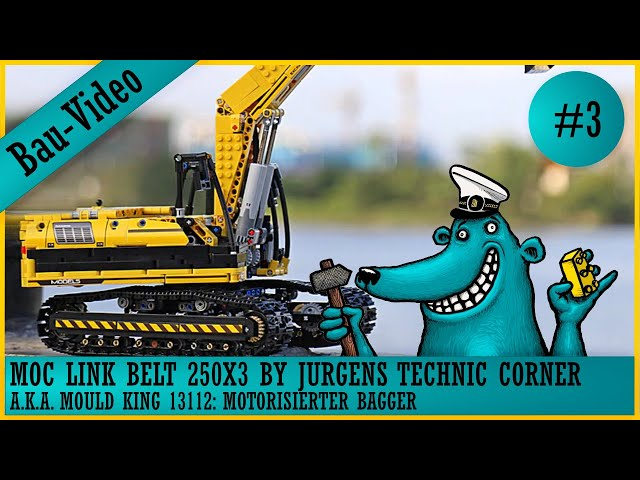Link Belt 250X3 / Mould King 13112: Ein Bagger baut sich nicht selbst, also muss der Käpt'n ran! #3