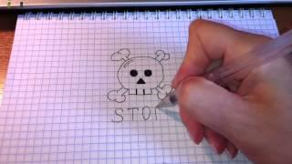 Простые рисунки #44. Самый простой способ нарисовать череп. / Skull(Как нарисовать простой рисунок обычной гелевой ручкой за несколько минут. Спасибо, что смотрите мои видео...., 2013-07-30T10:59:16.000Z)