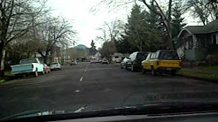 Eugene streets, Oregon. West 11th ave. to Cafe Soriah 3/9/11
