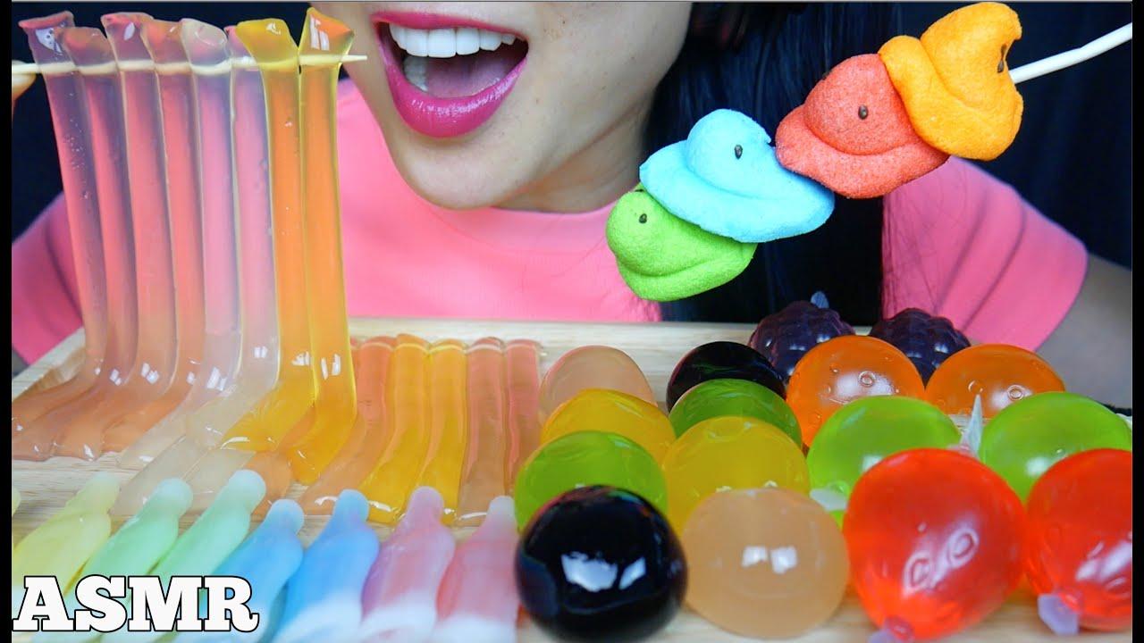 ASMR KYOHO GRAPES TikTok NOODLE JELLO NIK-L-NIPS WAX BOTTLE (EATING SOUNDS) NO TALKING | SAS-ASMR