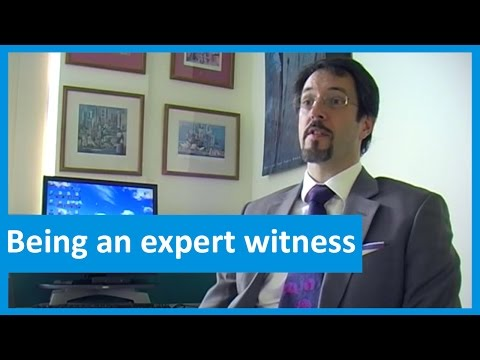 Being an expert witness